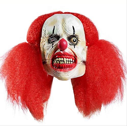 dhude Halloween-Maske Rote Große Skorpion-Clown-Maske Mit Horror-Latex-Maske Lustige Gruselig Maske