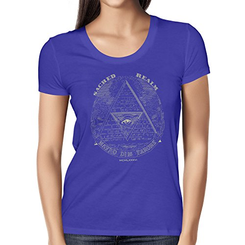 TEXLAB - Triforce Illuminati - Damen T-Shirt, Größe M, marine