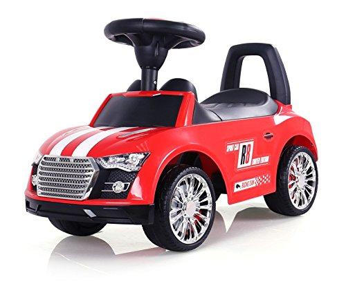 Porteur Auto en 5 couleurs: la voiture parfaite pour votre petit coureur automobile. Cette voiture a l'allure d'une vraie voiture de sport., Couleur:Rouge