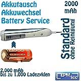 2000 mAh NiMH Akkuwechsel für OralB TriZone und neue Triumph 5000 - Batterie Battery Akku Replacement Service Oral-B Akkutausch auch für 5500, 6500, 6000, 7000, 8000, 8300, 8500, 8900, 9400 und Modellnummern 3711, 3719, 3728, 3731, 3738, 3739, 3745, 3761, 3762, 4713, 4716, 4727, 4728, 4729 und 4736