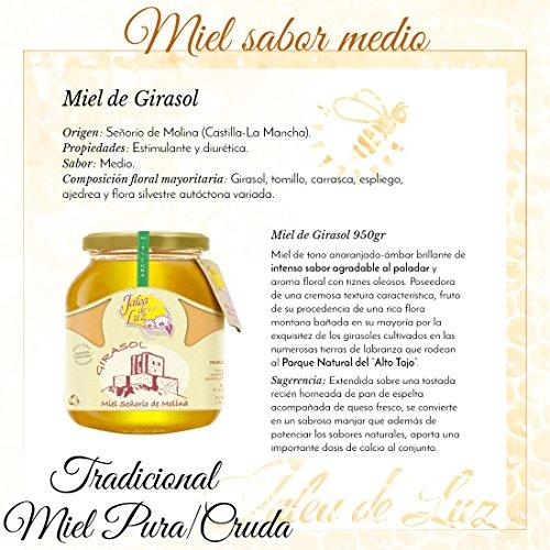 Jalea de Luz Miel Cruda Pura de Girasol - 950 gr.