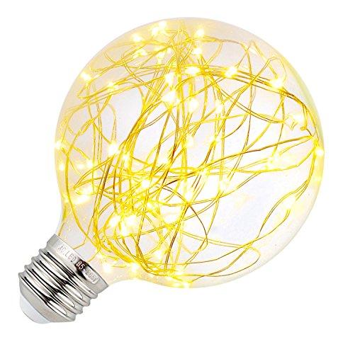 Gelb Dekorative Lichterkette (Vintage Star G95 LED String Lichter Birne Weinlese Edison, E27 Antik Globus Dekorative Lichter Für das Schlafzimmer Terrasse Party Hochzeitsstangen - Warmweiß)