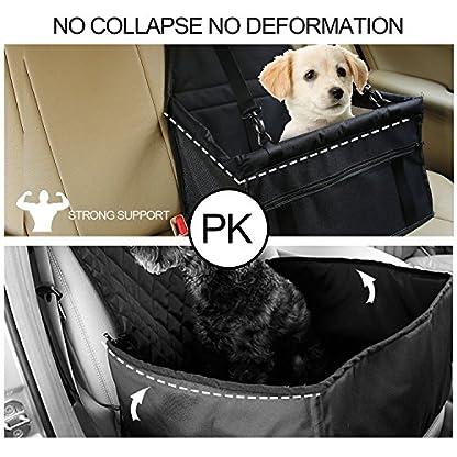 Aandyou Pet Car Booster Seat Breathable Waterproof Pet Dog Car Supplies Travel Pet Car Carrier Bag Seat Protector Cover… 5