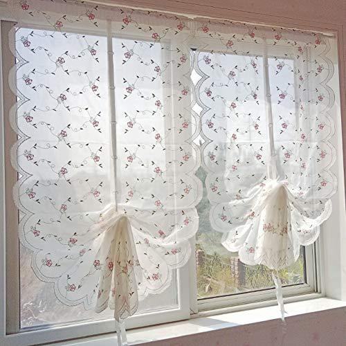 Pp&dd tenda in tulle le tende,semi-velato bianco filato tende tende di voile,per camera da letto salotto una fetta-a 63x250cm(25x98inch)