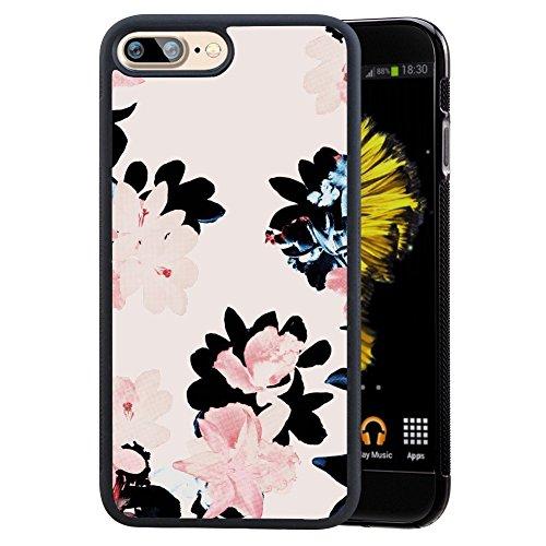 Birds iPhone 7Plus/iPhone 8Plus custodia, antiurto morbido TPU + PC Premium custodia per iPhone 7Plus/8Plus 14cm Flowers 3