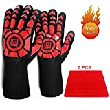 Myir Heat Resistant Gloves BBQ Grilling Cooking Gloves 932°F / 500°C Extreme High