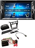 caraudio24 JVC KW-V240BT DVD USB MP3 2DIN Bluetooth CD Autoradio für BMW 5er (E60 2003-2007)