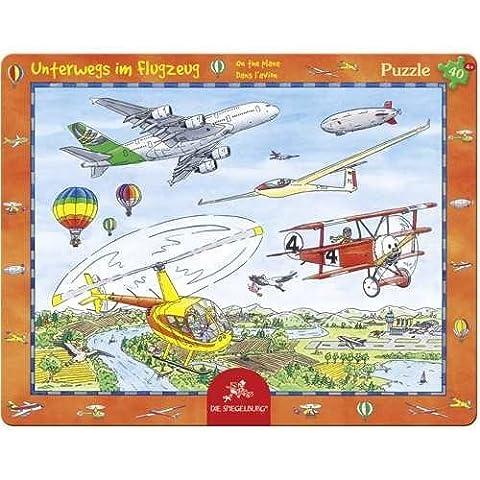 20691 - Die Spiegelburg - Rahmenpuzzle: Unterwegs im Flugzeug, 40 Teile, 40 Teile