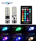 #7: Kingsway Multicolor Led Parking Bulb Light with IR Remote - Universal For All Cars