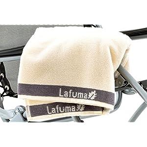 Lafuma Frotteeauflage für alle Relax-Liegestühle, 100% Baumwolle, anthrazit, 60 x 180 cm
