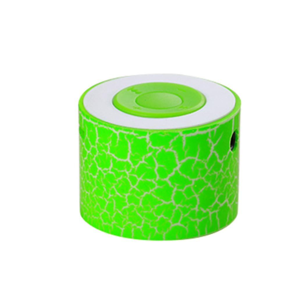Taottao portatile mini altoparlanti stereo Bass Music player wireless TF speaker, green