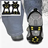 WinterWise 10-STUD Ice Traction Universal Slip On Snow & Ice Spikes (Grips, Crampons) (XL (UK 11-13))