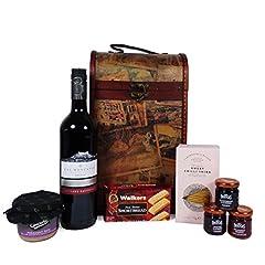 Idea Regalo - Annata vettore di legno del vino Il Premium 'Clarendon' Con il vino rosso a foglia larga - idea regalo per il compleanno, anniversario, Come ringraziamento