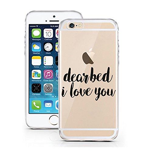 iPhone 5 5S SE Hülle von licaso® für das Apple iPhone 5S aus TPU Silikon Ein bisschen Dick is nicht so slim! Vögelchen Dickie Muster ultra-dünn schützt Dein iPhone 5SE & ist stylisch Schutzhülle Bumpe Dear Bed I Love You