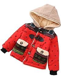 JiaMeng Ropa para niños Chaqueta Abrigada a Prueba Otoño Invierno con Capucha Capa Capa Gruesa Ropa de Abrigo