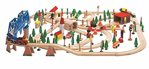 Woodyland-Railway-Set-in-a-Wooden-Box-170-Piece