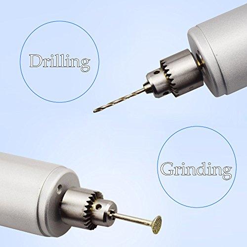 KKmoon Multi-Funktions Professionelle Elektrische Schleifen Set Regulierung der Geschwindigkeit Mini Drill Grinder Handwerkzeug zum Fräsen Polieren Bohren schneiden-Gravur-Kit - 5