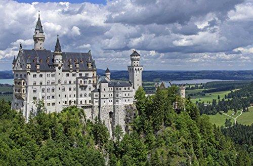 hansepuzzle 51004 Hintergründe - Schloss Neuschwanstein, 500 Teile in hochwertiger Kartonbox, Puzzle-Teile in wiederverschliessbarem Beutel