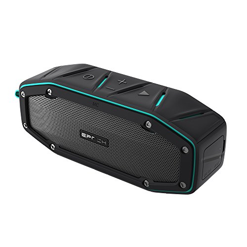 autsprecher Kabellose Portabler 10W Lautsprecher Box mit 12 Stunden Spielzeit & Dual-Treiber Wireless Speakers mit Mikrofon und Reinem Bass für Zuhause, im Freien, Reisen,Blue,one ()