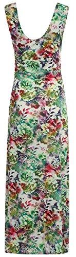 Chocolate Pickle ® Nouveaux Femmes Grande Taille de Grecian Boob Knot imprimé à fleurs longue Maxi Dress 36-54 Green Leaf Floral