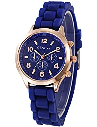 Geneva Platinum Analogue Watch for Women and Girls - GP-379 (Blue)