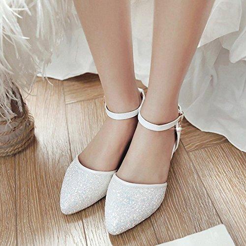 Bloc Boucle Talon Femmes De Bas Taoffen Escarpins Chaussures Mode SBtq8Cw