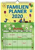 Familienplaner 2020 mit 5 Spalten Familienkalender A4 Terminplaner Wandkalender 56034