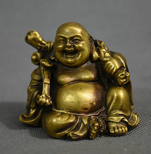 Yunhao cina buddismo ottone ricchezza ru yi happy laughing buddha maitreya statua figurine