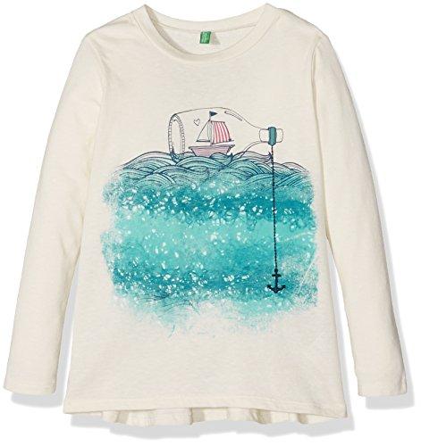 united-colors-of-benetton-madchen-t-shirt-3p7kc12z4-elfenbein-cream-4-5-jahre-herstellergrosse-xs