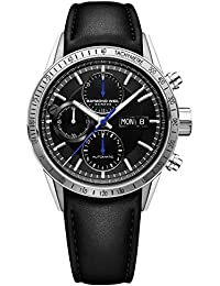 4d0fdc433d0e Raymond Weil Freelancer de los Hombres de  Swiss automático Reloj Casual de  Cuero y Acero
