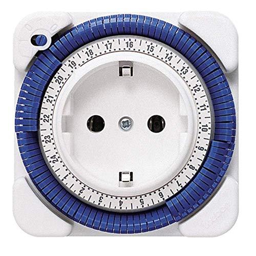 Theben 0260030 theben-timer 26 - analoge Zeitschaltuhr, Steckdosen-Schaltuhr, Zeitprogrammstecker, weiß (1)
