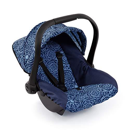 Bayer Design- Silla de Coche Easy go, Accesorios, Asiento para bebé de muñecas, Color Azul con diseño (67903AA)