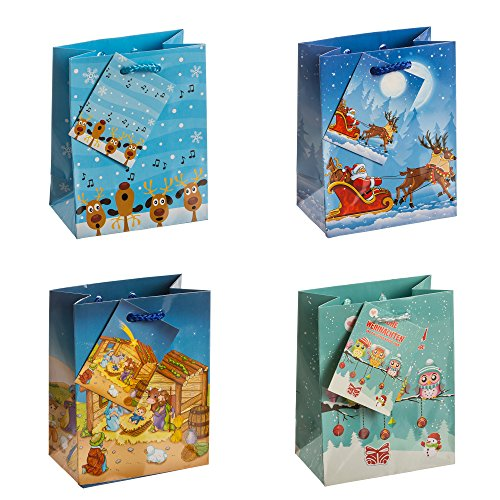 tsi-82028-gift-bags-christmas-children-pack-of-12-size-small-55-x-4-x-25-inch
