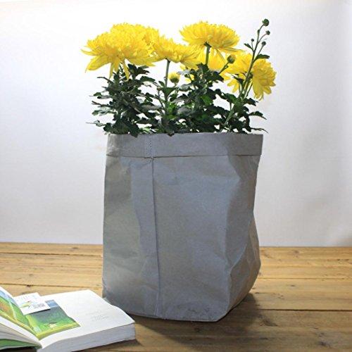 LCLrute Waschbar Kraftpapier Tasche Pflanze Blumen Töpfe Multifunktions Hause Aufbewahrungstasche Wiederverwendung
