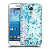 Head Case Designs Aquamarine Schimmerndes Marmor Soft Gel Hülle für Samsung Galaxy S4 Mini I9190