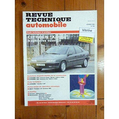 RTA0559 - REVUE TECHNIQUE AUTOMOBILE CITROEN XANTIA 4 cylindres Essence