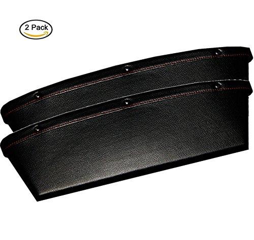 HJJH Auto-Sitz-Spielraum-Kasten-Füller-Sitz-Kontrollorganisator-Auto-Taschen-Organisator-Auto-Innenautositz-Seitenspeicher-Satz Von 2,Black