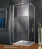 Duschkabine Dusche 90x90 Eckeinstieg Duschabtrennung Glas (ESG) Schulte - 2