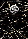 Carnet de Notes Petits Carreaux: VRAI A4 - 150+ pages Petits Carreaux avec marge - Calligraphie - Agenda - Journal - Espace Marbre et infini (Aquarelles) ! - J050