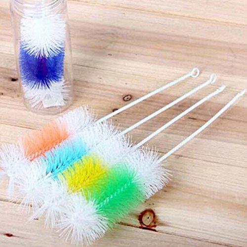 PURATEN Küche Reinigung Werkzeug Schwamm Bürste für Glas Alkohol Flasche Kaffee Tee Glas Tasse zufällige Farbe