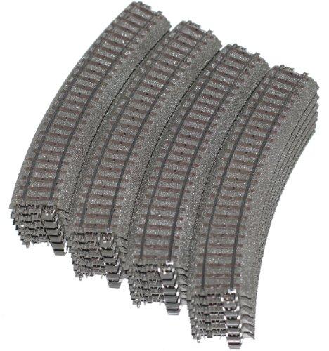 51AAxZJlw L - Märklin H0 24130 Gebogenes C-Gleis, 24 Stück