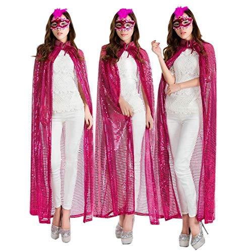 CN Halloween Pailletten Farbe Mantel Cos Kleidung Prinzessin -