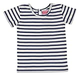 Always Kids Girls' Regular Fit T-Shirt (Navy Stripe Tee 1Y-$P, Blue, 5-6 Years)