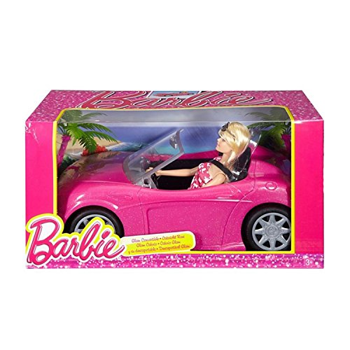 Barbie DJR55 – Poupée Barbie et cabriolet Rose