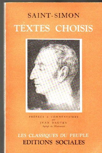 Textes choisis de Saint-Simon par Saint-Simon