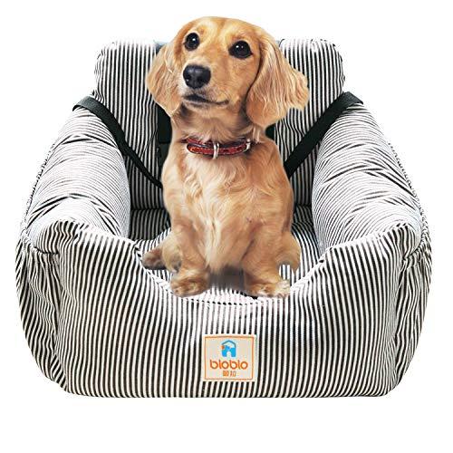 FRISTONE Hunde Autositz, Einzelsitz für den Rücksitz, Einfache Reinigung Hundesitz, 2 in 1 Haustier Sitzbezug für Vordersitz, mit Sicherheitsgurt (kaffeebraun)