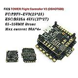 LITEBEE HGLRC Micro F3 EVO Controlador de vuelo AIO 6DOF Integrado en PDB con XR25A 396 4-1 ESC Soporta 2-6S Batería Oneshot125 (20 * 20mm, 4.2g)