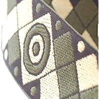 Neotrims decorativa stile azteco a scacchi messicano Jacquard taglio nastro,