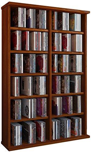 VCM 50444 Regal Schrank DVD CD Rack Medienregal Medienschrank Aufbewahrung Holzregal Standregal Möbel in 6 Farben
