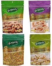 Happilo Premium Dry Fruits Combo 6 ( California Almonds 200g, Raisins 250g, Whole Cashews 200g, Roasted Pistachios 200g )